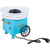 HOMCOM Máquina de Algodón de Azúcar Eléctrica Profesional Estilo Retro Regalo Infantil para Fiestas Cumpleaños Acero Inox. Aluminio 450W Cotton Candy Machine 30x30x28cm