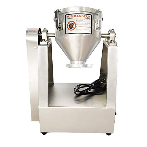 YUCHENGTECH 25L Lab Dry Powder Mixer Mixing Machine Particle Blender Powder Mixer Granual Blender for Food Chemical Medical 0-33 rpm (110V, 25L(10-15kg))