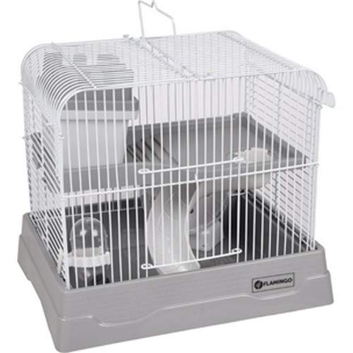 FLAMINGO - Cage pour Hamster Dinky Grise 30 x 23 x 26...
