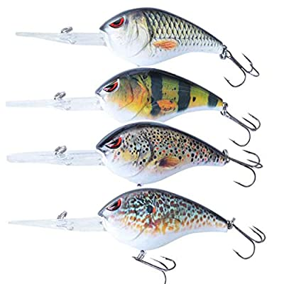 4 Elbfang Natural Fishing Fishing Lure Crankbait Set Wobbler by elbfang