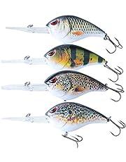 elbfang CRANKBAIT WOBBLER visaas set   kunstaas visset   roofvis snoek baars snoekbaars vissen   4 stuks