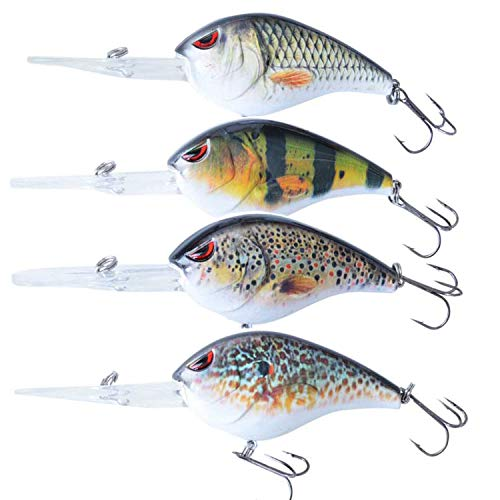 Fischköder Köder Crankbait Minnow Tackle Wobbler Spinner Vibration Bass Deep