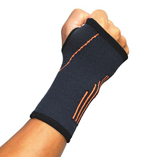 Handgelenkbandage, Mittelgroße Druck-Bandage mit Daumen-, Handinnenflächen-, Karpaltunnel-Klammern und Schienen, lindert Sehnenentzündungen, Arthritis, schwarz, Herren, 2 pcs