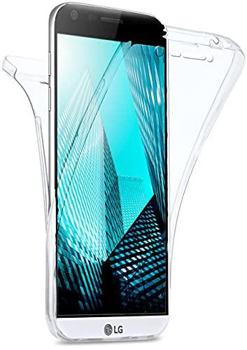 MoEx Cover Fronte-Retro in Silicone Compatibile con LG G5 | Trasparente, Trasparente