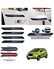 BUY HAPPYAMMY SHOP Rubber Car Bumper Protector Guard with Double Chrome Strip for Car 4Pcs - Black (for DUTSUN GO Plus)