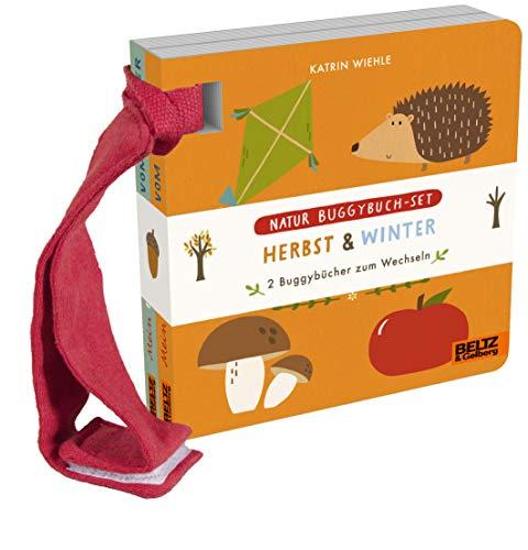 Natur Buggybuch-Set: Herbst und Winter: 2 Buggybücher zum Wechseln