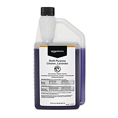 AmazonBasics Professional Multi-Purpose Cleaner, Lavender, Concentrate, Dilution Control, 32 Ounces, 6-Pack