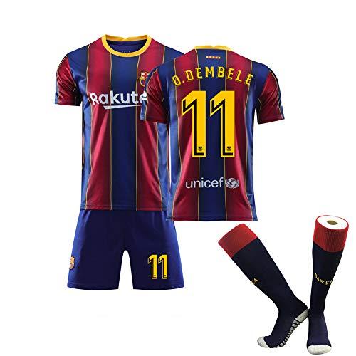 Crstal O. Dembele 11# Trikot und Shorts Set, 2020-2021 Season Fußball Trikots (Size:16)