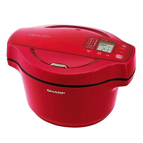 シャープ 自動調理 鍋 ヘルシオ ホットクック 1.6L 無水鍋 レッド KN-HT99B-R