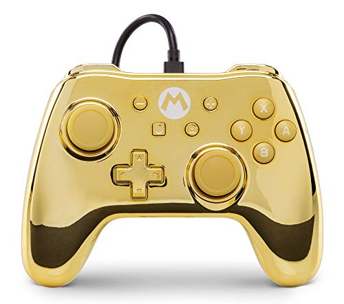PowerA Special Edition Super Mario Wired Controller Gold Chrome - Nintendo Switch