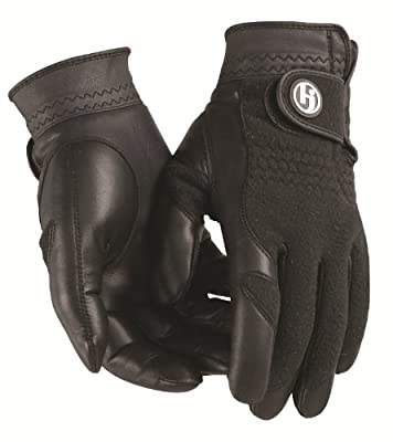 HJ Glove Men's Black Winter Performance Golf Glove, X-Large, Pair
