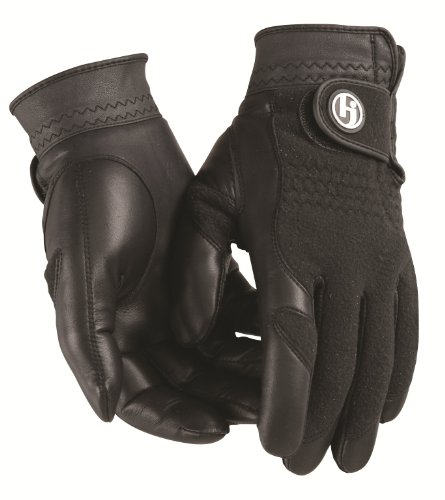 HJ Glove Men's Black Winter Performance Golf Glove, Large, Pair