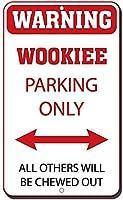アルミメタルサインおかしい警告ウッキーパーキングほかのすべてのものは噛み砕かれます有益なノベルティウォールアート垂直