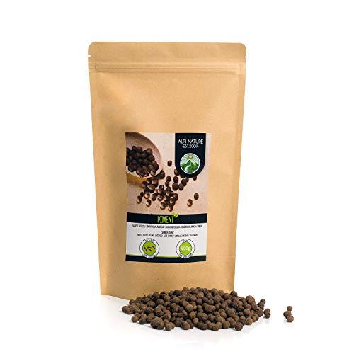 Pimienta de Jamaica entera (500g), granos de pimienta de Jamaica 100% natural, especia sin aditivos, vegana, semillas de pimienta de Jamaica