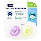 Chicco Physio Air - Pack de 2 chupetes de silicona para 6-16 meses, modelos aleatorios, color rosa
