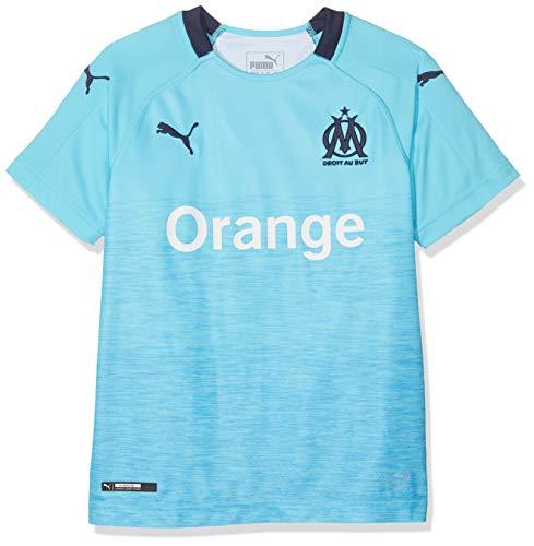 PUMA Kinder Trikot Olympique de Marseille Third Original SS, NRGY Turquoise/Peacoat, 164, 753547