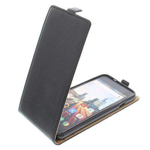 foto-kontor Tasche für Archos 55 Helium Plus Smartphone Flipstyle Schutz Hülle schwarz