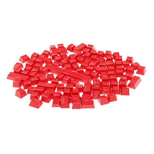 Blesiya 108ピース カラフルな半透明キーキャップ 交換 メカニカルキーボード用 DIYカスタム キーボードのキーキャップ - 赤