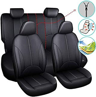 5 Seats Car Seat Covers Set 4 Seasons PU Leather for i30 Kona Tucson CX-3 CX-5 Camry Corolla hilux