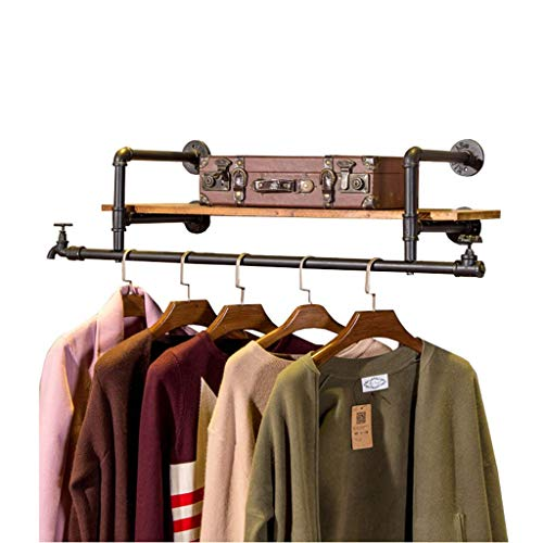 Chutd Kledingkast van ijzer aan de muur voor het ophangen van kleding voor thuis, planken, wandrek, expositierek, kledingrek voor woonkamer