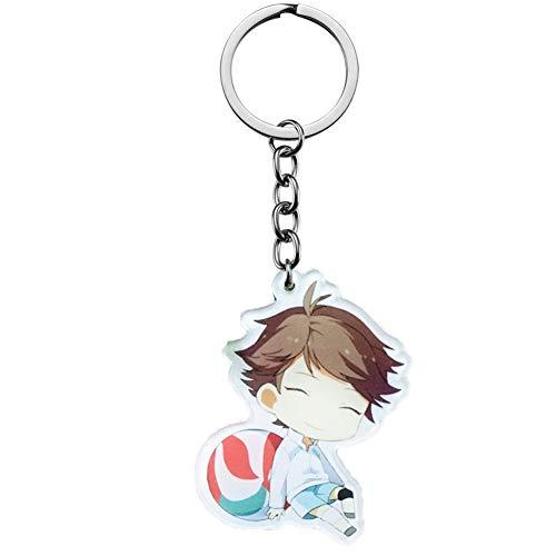 A-Shui 1 Stück Haikyuu Cosplay Cartoon Schlüsselanhänger Kleidung für Taschen Rucksack, kreatives Geschenk für Anime-Fans (10)