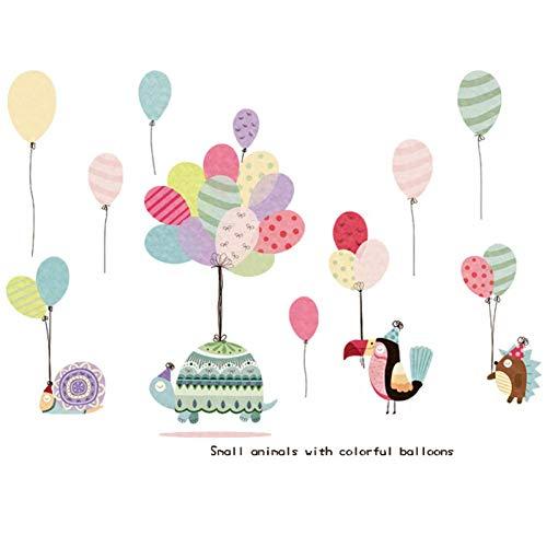Romántico Salón de Arreglos de Globos Multicolores Autoadhesivo Etiqueta de La Pared Cute Cartoon Animal Kindergarten Classroom Niños 's Stickers
