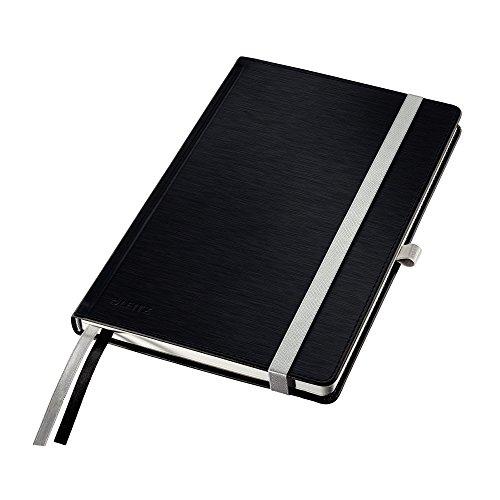 Leitz 44860094 Notizbuch Style Notizbuch Style, fester Einband, A5, kariert, satinschwarz
