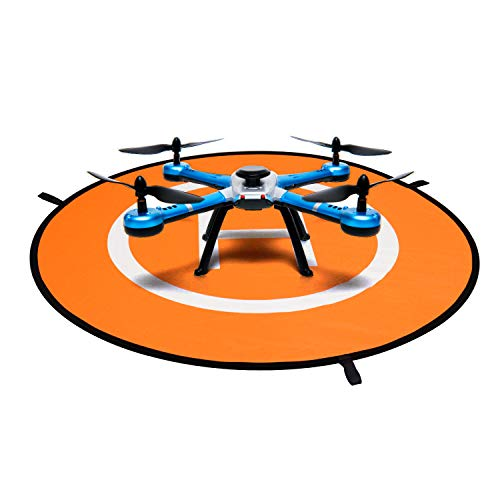 QWORK Drones Landing Pad , 110 cm , Universal Impermeable Landig Pad , para RC Drones Helicóptero , PVB Drones , Antel Robotic