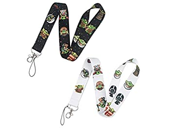 Lanyard Keychain Holder for SW Cosply Keychain Lanyard Clip with Webbing Strap for Keys Cell Phone ID Badges Black One Size