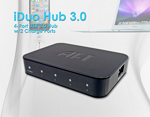 iDuo Hub 3.0 Four Ports USB 3.0 Hub Two Fast Charging Ports (BC 1.2) Android, Apple iOS Windows Mobile Devices