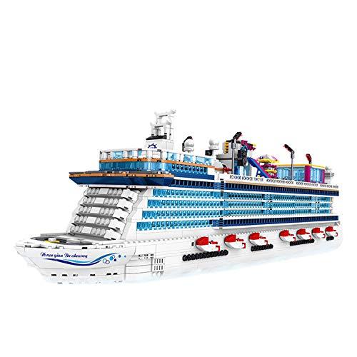 MYRCLMY Luxuskreuzfahrt Bausteine, Spielzeug Zusammengebaut Bausteine Erwachsene Puzzle Hochschwierigkeit Puzzle Bausteine Kreatives Spielzeug Quantum Luxuskreuzfahrtschiff Modell