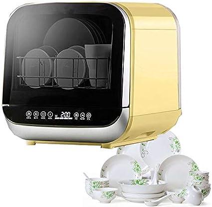 DSFEOIGY Con Patas pequeño portátil Lavavajillas Mini Compacto automático de Mesa Lavavajillas máquina del Control Temporizador Digital