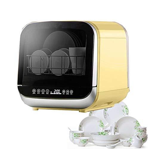 SKREOJF Con Patas pequeño portátil Lavavajillas Mini Compacto automático de Mesa Lavavajillas máquina del Control Temporizador Digital