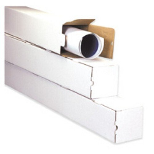 """5"""" x 5"""" x 30"""" White Square Shipping Mailer Mailing Storage Boxes Tubes 25 Pc"""