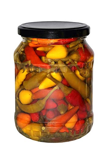 Chili Paprika eingelegtes vom Bauern aus Ungarn extra scharf handgemacht keine Industrieware Sauereingelegtes Chili aus Kalocsa 720ml