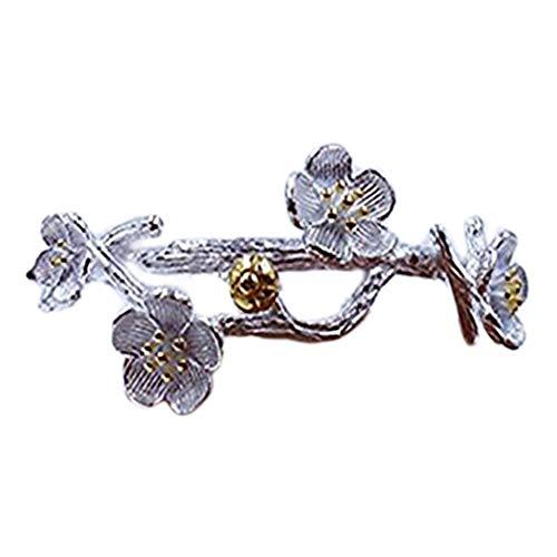 Pulsera de Plata de Ley con Diseño de Flores Románticas de Gardenia de One Life