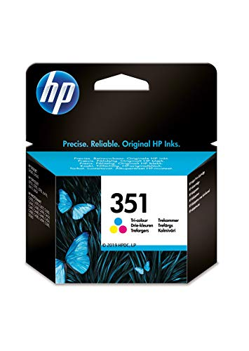 HP 351 CB337EE, Tricolor, Cartucho de Tinta Original, compatible con impresoras de inyección de tinta HP Deskjet D4260, D4300, Photosmart C5280, C4200, Officejet J5780, J5730