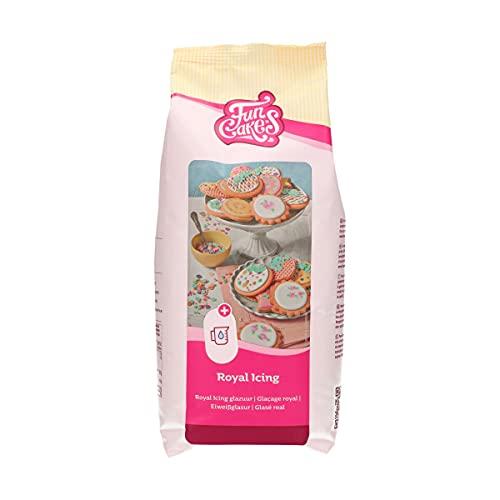 FunCakes Mix für Royal Icing, einfach zu verwenden, zum Dekorieren von Kuchen und Keksen, schöne Glasur, nur Wasser hinzufügen, Halal., 900 g