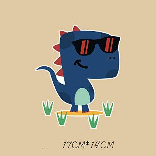 Parches de transferencia térmica Adecuado para chaquetas, camisetas, jeans, sombreros, ropa, 1 pieza de dibujos animados de dinosaurios grandes