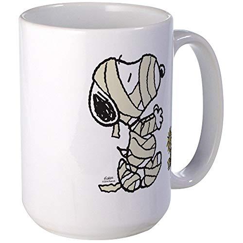 NA Momia Snoopy & Amp; Woodstock Mugs Taza de café, Grande de...
