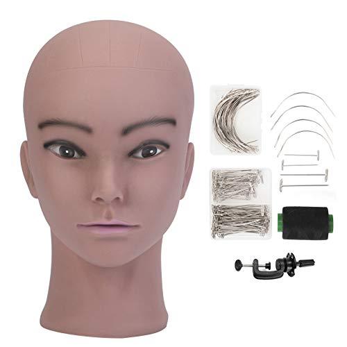 Tête de mannequin Neverland Tête d'entraînement Cosmétologie professionnel à peau noire idéal pour exposer les écouteurs, chapeaux, perruques, les écharpes