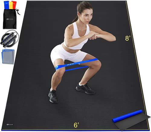 Large Exercise Mat Extra Large Yoga Mat Exercise Mats for Home Gym Equipment Large Workout Mat Extra Wide Yoga Mat Wide Xl Yoga Mat Gym Mat Gym Mats for Home Workout Gym Flooring for Home Gym Flooring