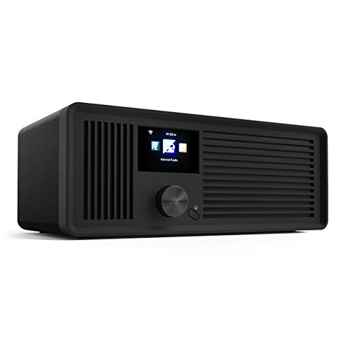 sky vision DAB 70 IR GB – Stereo DAB+ Internet-Radio (FM UKW, WLAN-fähig, mit AUX-Anschluss Plus Kabel, Digital-Radio Wecker, mit Fernbedienung), schwarz