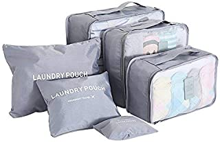 Organizer Packing Bag With Laundry Pouch, Grey, W 45.6 x H 32.2 x L 2.8 cm
