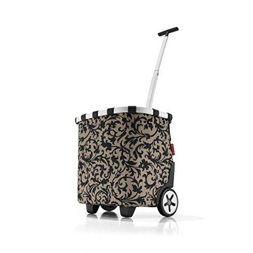 reisenthel Carrycruiser, el gasto del Bolso, Cesta con Ruedas, Carro, Carretilla, Taupe Barroco/fantasía de Color marrón Claro y Negro, OE7027