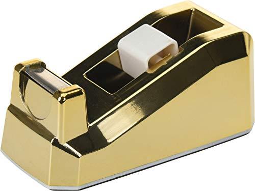 Klebebandabroller Tischabroller in goldfarbenem, modernem Design, 12 x 6 x 5 cm
