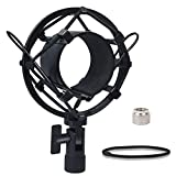 Boseen Universal Microphone Shock Mount, Mic Clip Holder Mount for Diameter 47mm-53mm Mic Anti Vibration Adjustable High Isolation Shock Mount