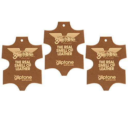 GLIPTON Gliptone luchtverfrissers (Pak van 3 Fresheners) echt Engels leer, auto luchtverfrisser geur