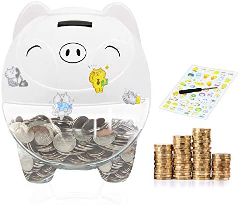 MOMMED Piggy Bank Digital Coin Bank Money Jar with LCD Display Big Piggy Bank Automatic Coin product image