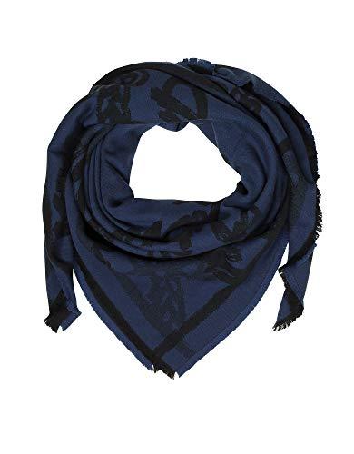 MCM Luxury Fashion Damen MEF8AMM05VA001 Blau Schal | Jahreszeit Permanent